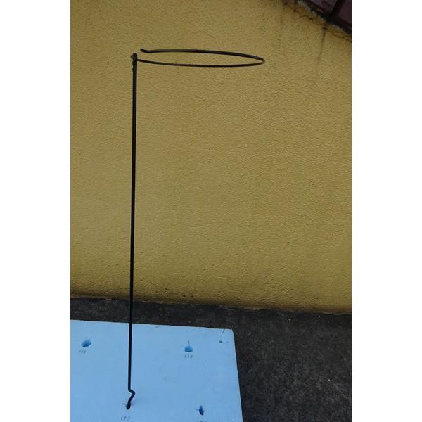 〔4本組〕 プランター支柱 〔直径20cm×高さ60cm〕 スチールワイヤー(黒) 日本製 173 花支柱ベル 〔園芸 ガーデニング用品〕