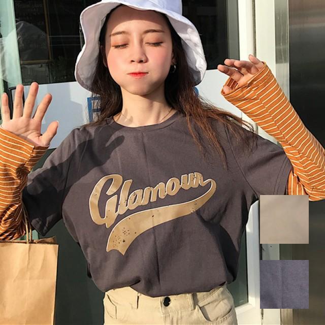 natu-loha「ぐんとオシャレに♪」レイヤード風ロングTシャツ☆ 2018 春夏 PTX8501