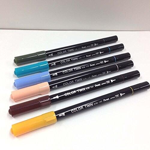 ぺんてる 水性ペンセット カラーツイン SCW-36 36色セット
