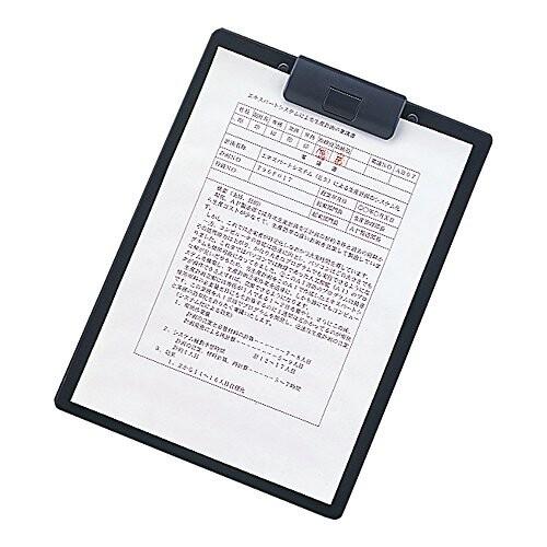 リヒトラブ クリップボード 捺印対応 A2985-24 A4ヨコ 黒