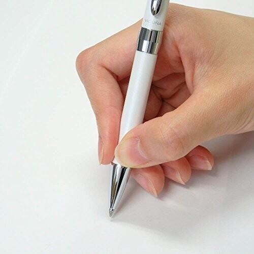 ぺんてる 油性ボールペン ビクーニャEX2 BX2007W ホワイト軸