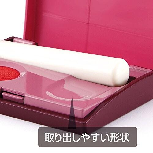 マックス スタンプ台 携帯用 エスパクトLite 朱肉 ピンク SA-2004S/P