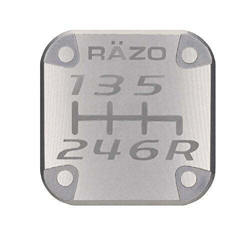 カーメイト 車用 シフトノブアクセサリ RAZO パターンバッジ MT6N アルミ ガンメタリック 6速MT車