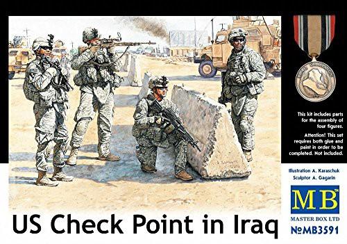 高級感 Master Box US Soldiers Cheque Point Iraq (4) Figure Model Building Kits, 愛-ギフト a5673846