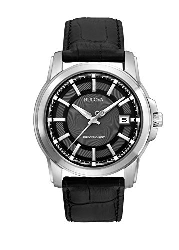 大勧め 【当店1年保証】ブローバBulova Men's 96B158 Precisionist Leather Strap Watch, SOLT AND PEPPER add7a152