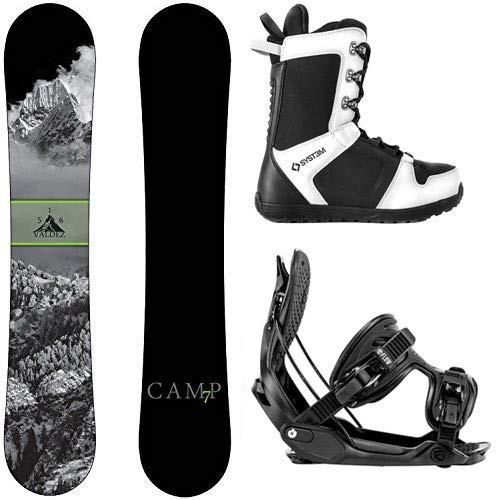 割引クーポン スノーボードCamp Seven Package Valdez CRC Snowboard-156 cm-Flow Alpha MTN Large-System APX Snowboard Boo, レブングン fa0fe6ae