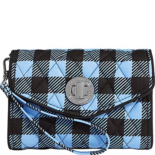 ヴェラブラッドリーVera Bradley Womens Your Turn Smartphone Wristlet Alpine Check Clutch