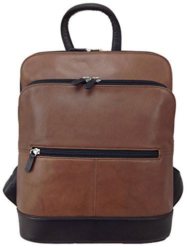新しいエルメス ILIili New New 6505 York 6505 Leather Backpack (Toffee ILIili/Black), Smile Garden&EX:903e15e1 --- paderborner-film-club.de