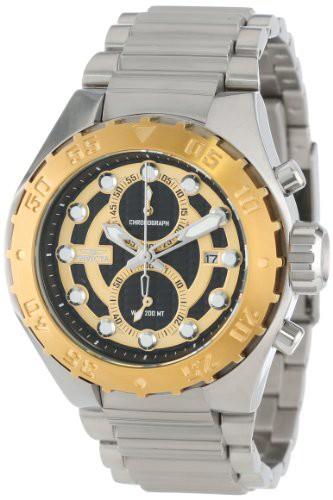 大好き Pro Men's 【当店1年保証】インヴィクタInvicta Chronograph Diver 13087 Textured Stainl Dial Black-腕時計メンズ