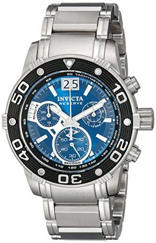 【当店1年保証】インヴィクタInvicta Men's 10588 Ocean Reef Reserve Chronograph Blue Dial Stainle