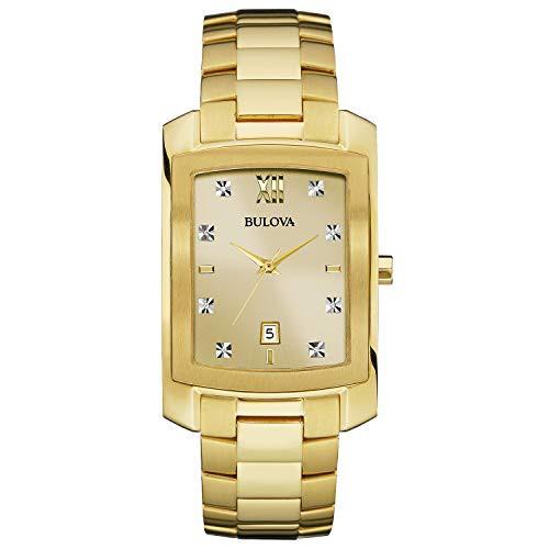【予約中!】 【当店1年保証】ブローバBulova Men's Quartz Stainless Steel Dress Watch (Model: 97D107), アタゴ 30940899