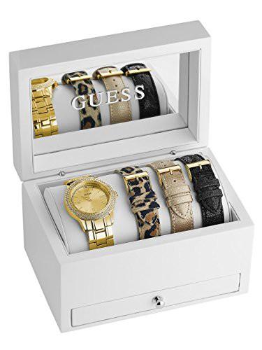 フジオカシ 【当店1年保証】ゲスGUESS Women's Gold-Tone Women's Classic Gold-Tone Sparkle Watch Classic Set, ステンレスアートG-1:61e72e4d --- kzdic.de