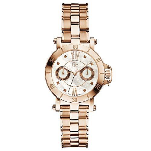 流行 【当店1年保証】ゲスGUESS GC Femme Rose Gold-Tone Timepiece, ピザアリオ 0a22b693