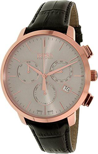 【メール便不可】 Men's Quartz Boss Watch Black Swiss 1513264 Leather 【当店1年保証】ヒューゴボスHugo-腕時計メンズ