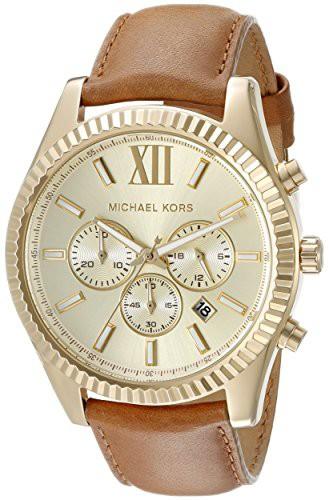 【名入れ無料】 【当店1年保証 Men's】マイケルコースMichael Kors Lexington Men's Lexington Gold-Tone Kors Watch MK8447, おがにっくしぜんかん:09a31dbe --- kzdic.de
