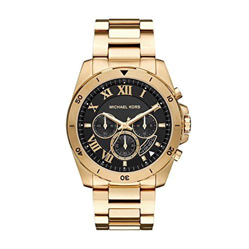 【当店1年保証】マイケルコースMichael Kors Men's Brecken Gold-Tone Watch MK8481