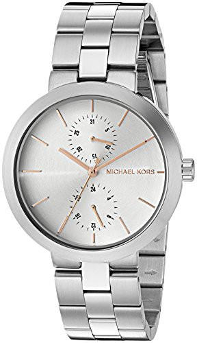 【誠実】 【当店1年保証 Silver-Tone】マイケルコースMichael Kors Women's Women's Kors Garner Silver-Tone Watch MK6407, オートショップTSG:664fd0d7 --- chevron9.de