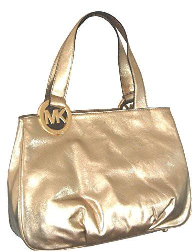 注目の マイケルコースMICHAEL Fulton Michael Kors Large Fulton Kors Large EW Leather Tote in Pale Gold, 横浜小町デザイン工房:3f1334eb --- chevron9.de
