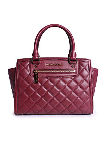 公式サイト マイケルコースMichael Claret Kors Selma Zip Quilt medium Satchel Satchel Claret Zip Leather, 巻町:ef9d60f6 --- chevron9.de