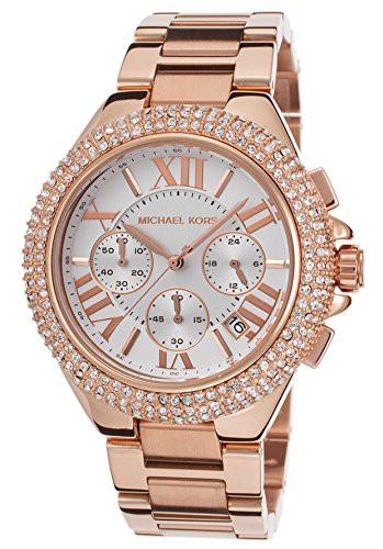 【当店1年保証】マイケルコースMichael Kors Camille Rose Gold-Tone Chronograph Watch MK5636