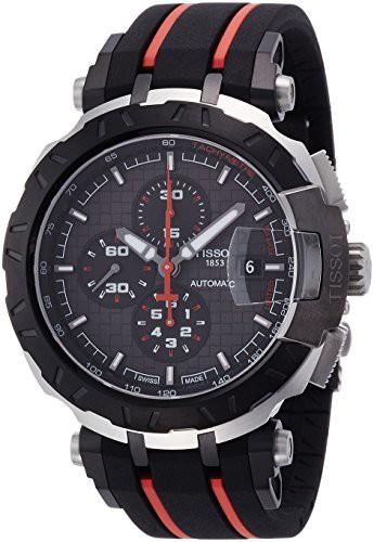 良質  【当店1年保証】ティソTissot T-Race MotoGP Black Dial T-Race SS Rubber Black Automatic Dial Men's Watch T092427270610, 遠賀郡:b6e8fa48 --- kzdic.de