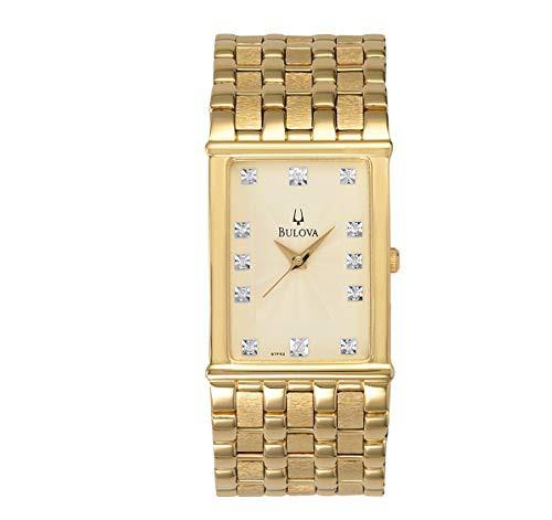 超爆安 【当店1年保証 Steel】ブローバBulova Men's 97F52 Diamond Accented Gold-Tone Steel Gold-Tone Accented Watch, ニイハマシ:eeb3440c --- 1gc.de