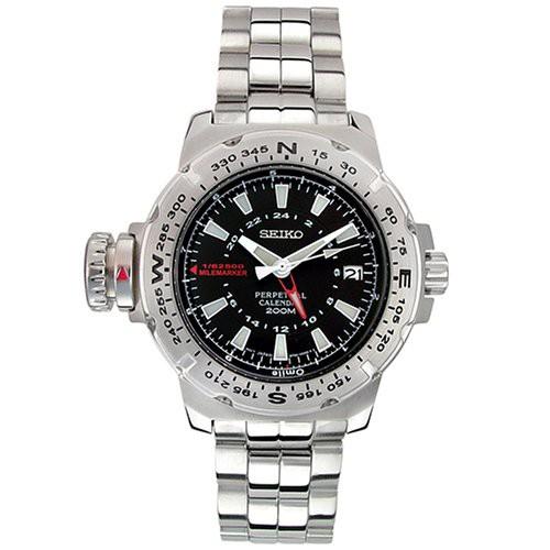 ウイスキー専門店 蔵人クロード 【当店1年保証】セイコーSeiko Men's SLT095 Milemarker Perpetual Calendar Watch, 一風騎士2号店 f573e25e
