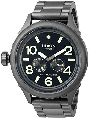 【当店1年保証】ニクソンNixon Men's 'October Tide' Quartz Metal and Stainless Steel Watch, Color:G