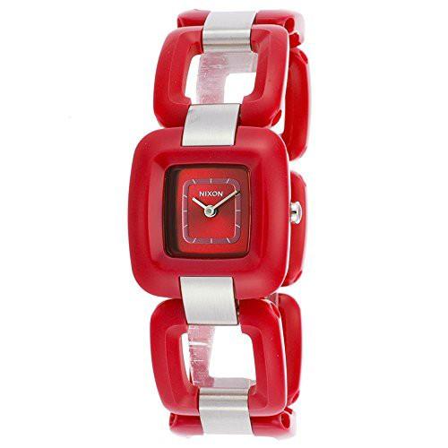 【当店1年保証】ニクソンNixon Women's Sisi Bracelet Watch - Red