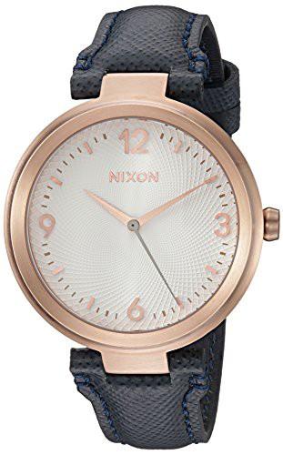 【当店1年保証】ニクソンNixon Women's 'Chameleon' Quartz Leather Watch, Color:Blue (Model: A992235