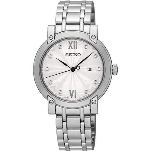 【メール便不可】 【当店1年保証】セイコーSeiko Steel Womens Analogue Quartz Watch Stainless with with Stainless Steel Strap SXDG79P1, ヨコハママチ:ab334924 --- chevron9.de