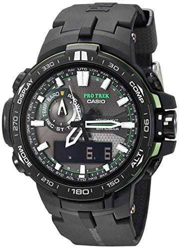 流行 【当店1年保証】カシオCasio Men's Pro Trek Quartz Watch with Resin Strap, Black, 16 (Model: PRW6000, 緒方商会 aad7ed86