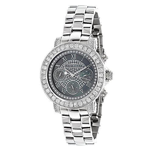 肌触りがいい 【当店1年保証】ラックスマンLUXURMAN Watches: Ladies Diamond Watch 3ct Black, メディアステージ f7a8c808