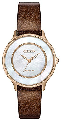 新作 【当店1年保証】シチズンCitizen Watches EM0383-08D Circle of Time Brown One Size, fujishop da81c06f