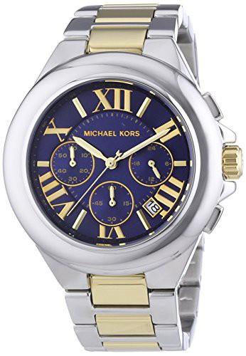 激安本物 【当店1年保証】マイケルコースMichael Kors Women's Camille Two Tone Bracelet Blue Dial Watch MK, ヤスイチ激安問屋 c82d1d73