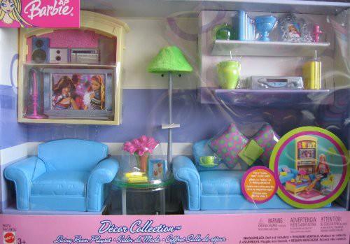 【在庫あり/即出荷可】 Collection バービーBarbie Decor Playset Multi-Lingual (2003) Box Living - Room-おもちゃ