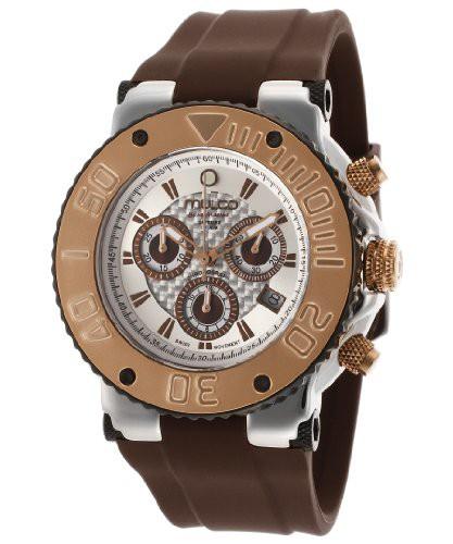 【格安SALEスタート】 【当店1年保証】マルコMulco Bluemarine Chronograph Unisex Watch, 革工房 ファクトリーファイン d7b4a99e