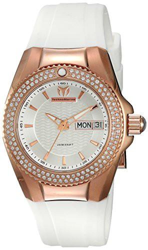 【楽ギフ_のし宛書】 【当店1年保証】テクノマリーンTechnomarine Women's Cruise Gold Quartz Watch with Silicone Strap, ドラッグストアマツダ e551f531