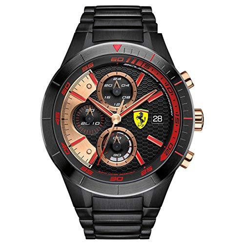 【当店1年保証】フェラーリFerrari Mens Watch Red Rev Evo Chronograph 0830305