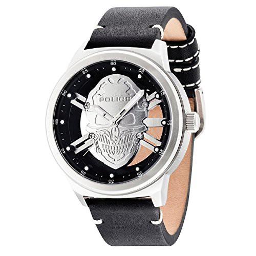 国内最安値! 【当店1年保証】ポリスPolice watch R1451273001 Predator Grey Leather Man, 敏感肌コスメセレクトショップ d7c09fa1