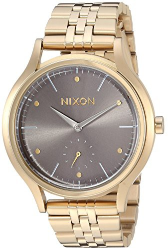 注目ブランド 【当店1年保証】ニクソンNixon Women's Sala Japanese-Quartz Watch with Stainless-Steel Strap, Silve, きなこの厳煎屋 b305cd22