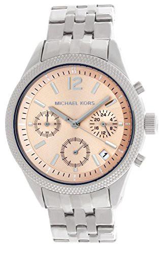 【当店1年保証】マイケルコースMichael Kors Women's MK6130 Peach Dial Stainless Steel Bracelet W