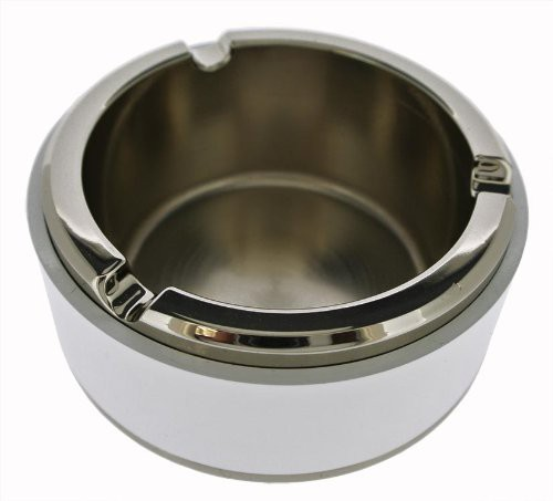 "灰皿Visol Products VASH419 ""Rabbit"" Metal and White Ashtray"