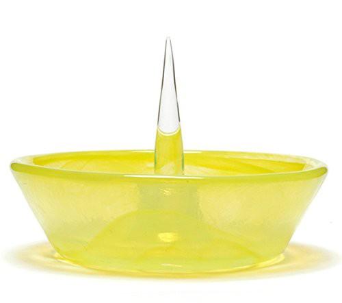 """灰皿Glass Debowler """"Yellow"""" Soft Glass Ashtray made in U.S.A."""