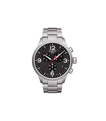 【初回限定お試し価格】 45mm T116.617.11.057.00 Silver Watch XL Chrono Men's 【当店1年保証】ティソTissot Steel Stainless-腕時計メンズ