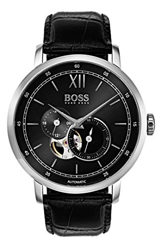 【当店1年保証】ヒューゴボスHugo Boss 1513504 Signature Timepiece Men's Watch Black 44mm Stainle