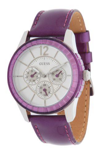 最新デザインの 【当店1年保証】ゲスGuess W95134L4 Purple Ladies Watch-腕時計レディース