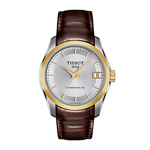 【人気急上昇】 【当店1年保証】ティソTissot Silver Dial Leather Strap Ladies Watch T0352072603100, JAいぶすきみのり館 752a35f9