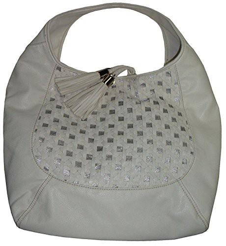 【受注生産品】 ナインウェストNine West Me Large Handbag, Weave It To Large Me Handbag, White, セドナストーンジュエリー:ad8e95a1 --- chevron9.de