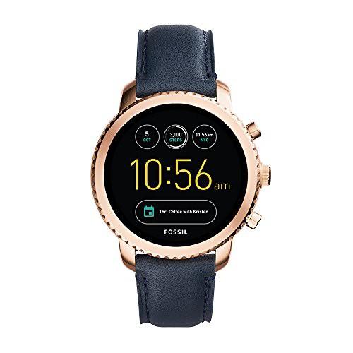 割引 Leather Smartwatch, Explorist 3 Men's 【当店1年保証】フォッシルFossil Q Gen and Steel Stainless-腕時計男女兼用(ユニセックス)